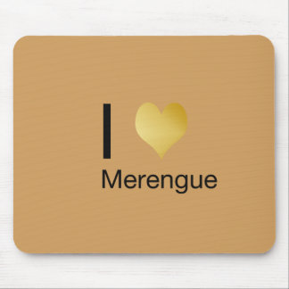 Playfully Elegant I Heart Merengue Mouse Pad