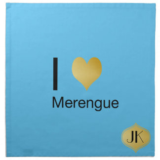 Playfully Elegant I Heart Merengue Napkin