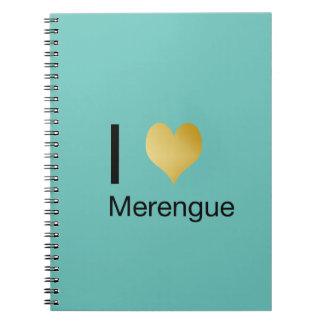 Playfully Elegant I Heart Merengue Notebooks