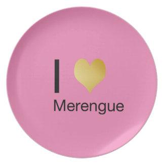 Playfully Elegant I Heart Merengue Party Plate
