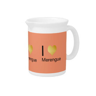 Playfully Elegant I Heart Merengue Pitcher