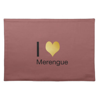 Playfully Elegant I Heart Merengue Placemat
