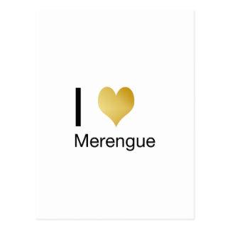 Playfully Elegant I Heart Merengue Postcard