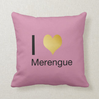 Playfully Elegant I Heart Merengue Throw Pillow