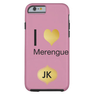 Playfully Elegant I Heart Merengue Tough iPhone 6 Case
