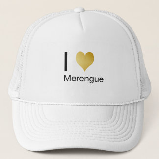 Playfully Elegant I Heart Merengue Trucker Hat