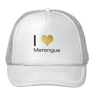 Playfully Elegant I Heart Merengue Trucker Hat