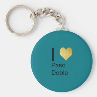 Playfully Elegant I Heart  Paso Doble Basic Round Button Keychain