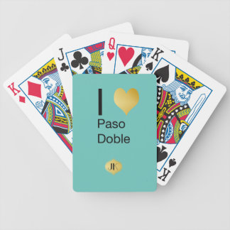 Playfully Elegant I Heart  Paso Doble Bicycle Playing Cards