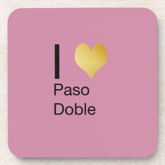 Playfully Elegant I Heart  Paso Doble Coaster