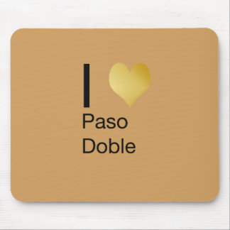 Playfully Elegant I Heart  Paso Doble Mouse Pad