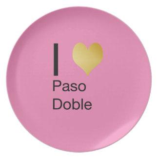 Playfully Elegant I Heart  Paso Doble Party Plates