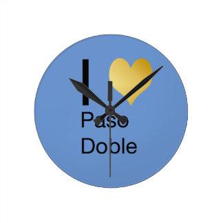 Playfully Elegant I Heart  Paso Doble Round Clock