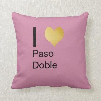 Playfully Elegant I Heart  Paso Doble Throw Pillow