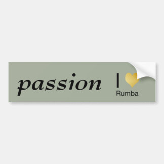 Playfully Elegant I Heart Rumba Bumper Sticker