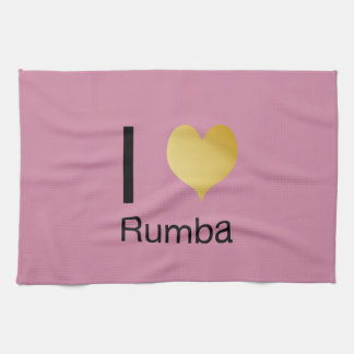 Playfully Elegant I Heart Rumba Hand Towels