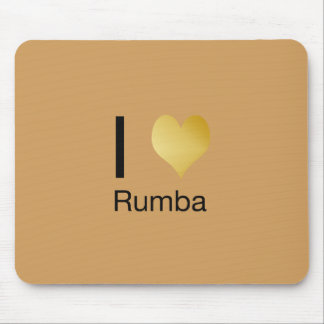 Playfully Elegant I Heart Rumba Mouse Pad