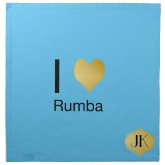Playfully Elegant I Heart Rumba Napkin