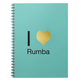 Playfully Elegant I Heart Rumba Notebooks