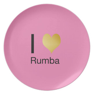 Playfully Elegant I Heart Rumba Plate