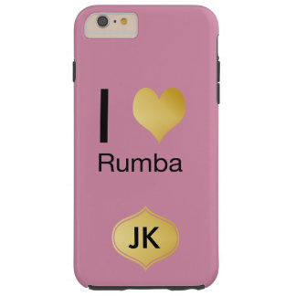 Playfully Elegant I Heart Rumba Tough iPhone 6 Plus Case