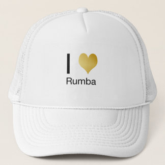 Playfully Elegant I Heart Rumba Trucker Hat