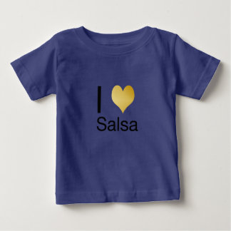 Playfully Elegant I Heart Salsa Baby T-Shirt