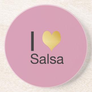 Playfully Elegant I Heart Salsa Coaster