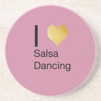 Playfully Elegant I Heart Salsa Dancing Coaster