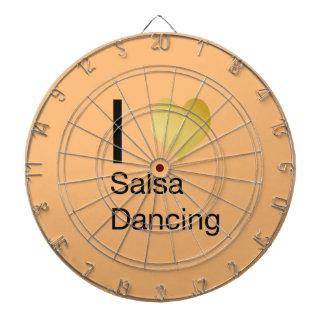 Playfully Elegant I Heart Salsa Dancing Dartboard