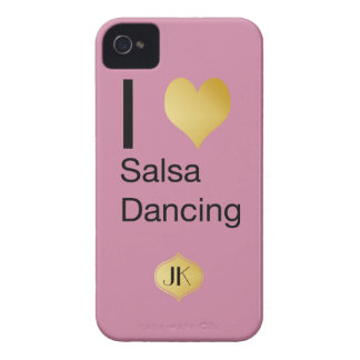 Playfully Elegant I Heart Salsa Dancing iPhone 4 Covers