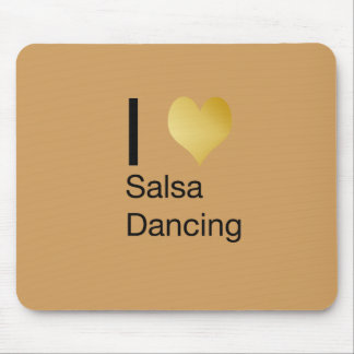 Playfully Elegant I Heart Salsa Dancing Mouse Pad