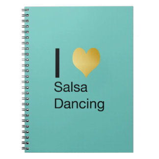 Playfully Elegant I Heart Salsa Dancing Notebook