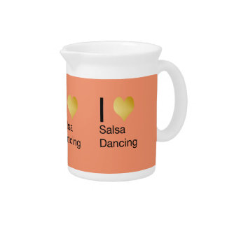 Playfully Elegant I Heart Salsa Dancing Pitcher