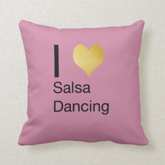 Playfully Elegant I Heart Salsa Dancing Throw Pillow