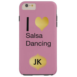 Playfully Elegant I Heart Salsa Dancing Tough iPhone 6 Plus Case