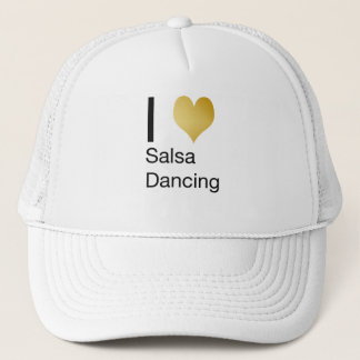 Playfully Elegant I Heart Salsa Dancing Trucker Hat