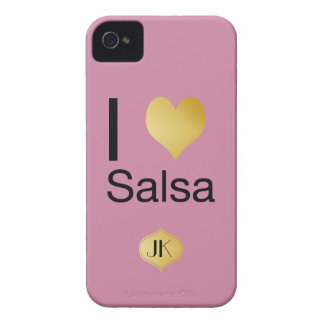 Playfully Elegant I Heart Salsa iPhone 4 Case