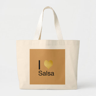 Playfully Elegant I Heart Salsa Large Tote Bag
