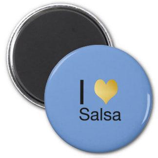 Playfully Elegant I Heart Salsa Magnet