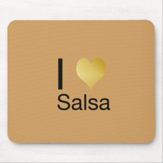 Playfully Elegant I Heart Salsa Mouse Pad