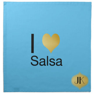 Playfully Elegant I Heart Salsa Napkin