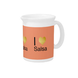 Playfully Elegant I Heart Salsa Pitcher