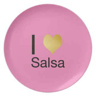 Playfully Elegant I Heart Salsa Plate