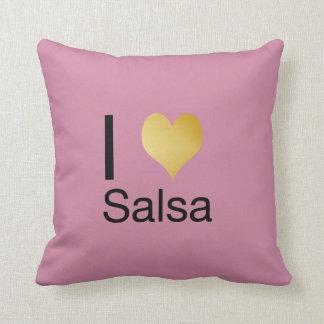 Playfully Elegant I Heart Salsa Throw Pillow