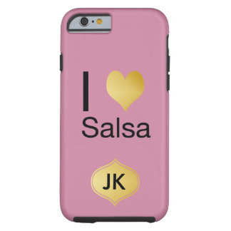 Playfully Elegant I Heart Salsa Tough iPhone 6 Case