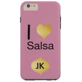Playfully Elegant I Heart Salsa Tough iPhone 6 Plus Case
