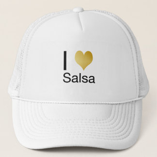 Playfully Elegant I Heart Salsa Trucker Hat