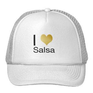 Playfully Elegant I Heart Salsa Trucker Hat