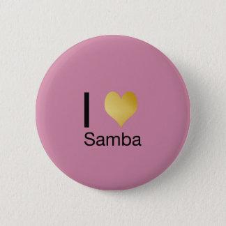 Playfully Elegant I Heart Samba 2 Inch Round Button
